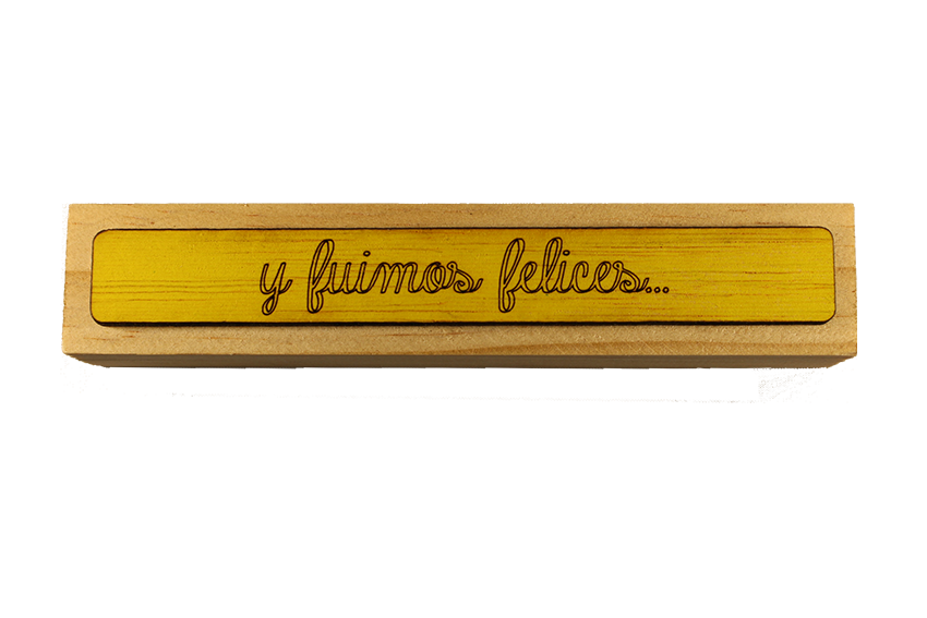 """Portafotos CUBO RECTANGULAR """"y fuimos felices"""""""